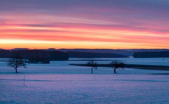Winter 2021 Panorama Sonnenaufgang ©DornenProjekt Winterbilder zum Träumen